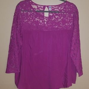 Old navy  3/4 sleeve lace top blouse.
